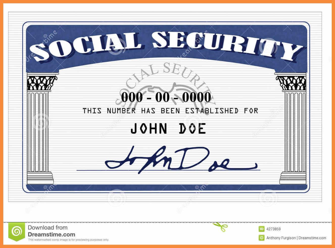 20+ Blank Social Security Card Template inside Fake Social Security Card Template Download