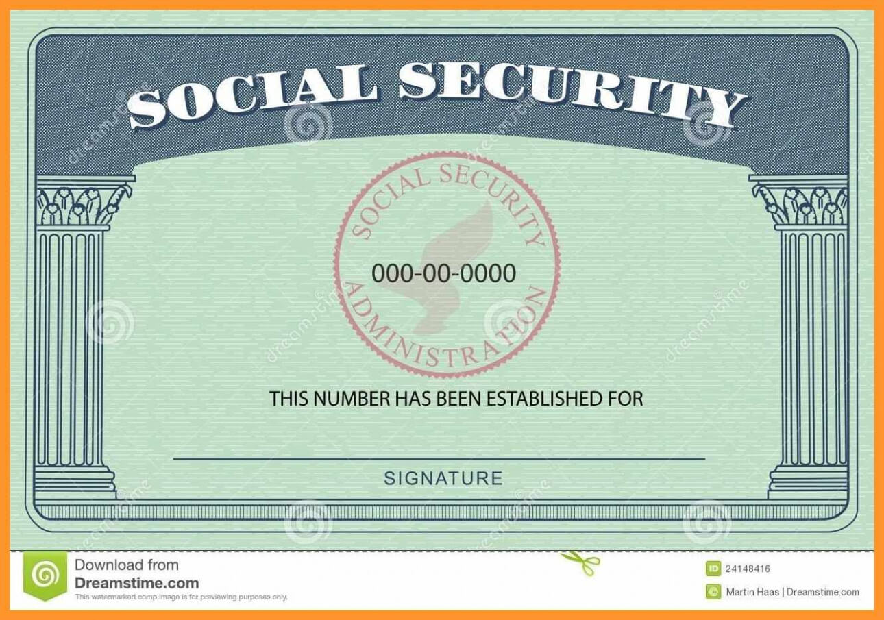 20+ Blank Social Security Card Template intended for Blank Social Security Card Template Download