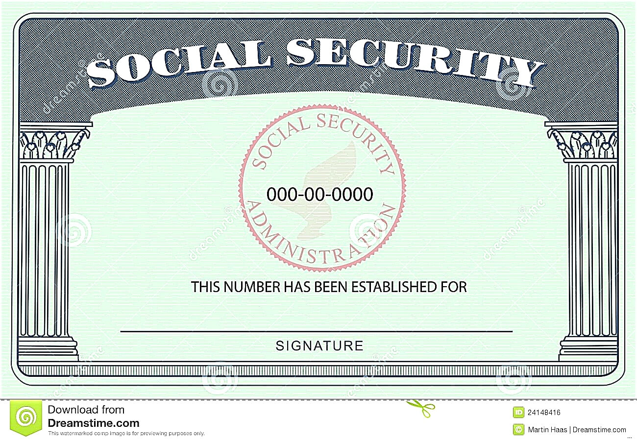20+ Blank Social Security Card Template with Blank Social Security Card Template Download