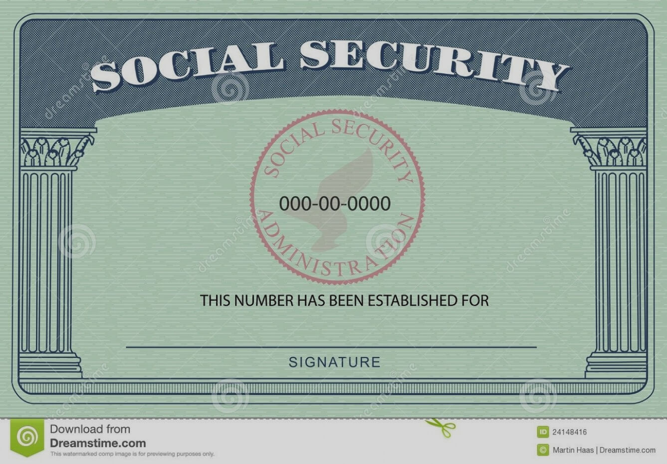 20+ Blank Social Security Card Template with regard to Ss Card Template