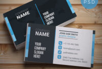 20+ Free Business Card Templates Psd – Download Psd for Psd Name Card Template
