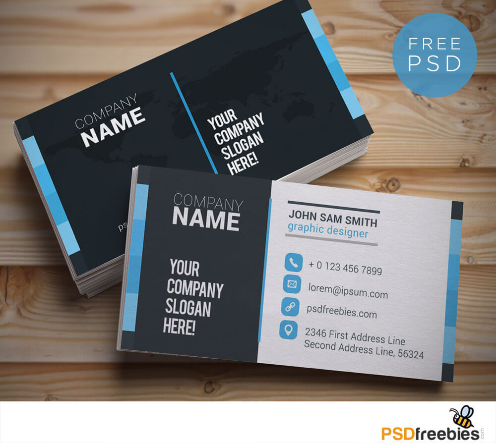 20+ Free Business Card Templates Psd - Download Psd throughout Calling Card Psd Template