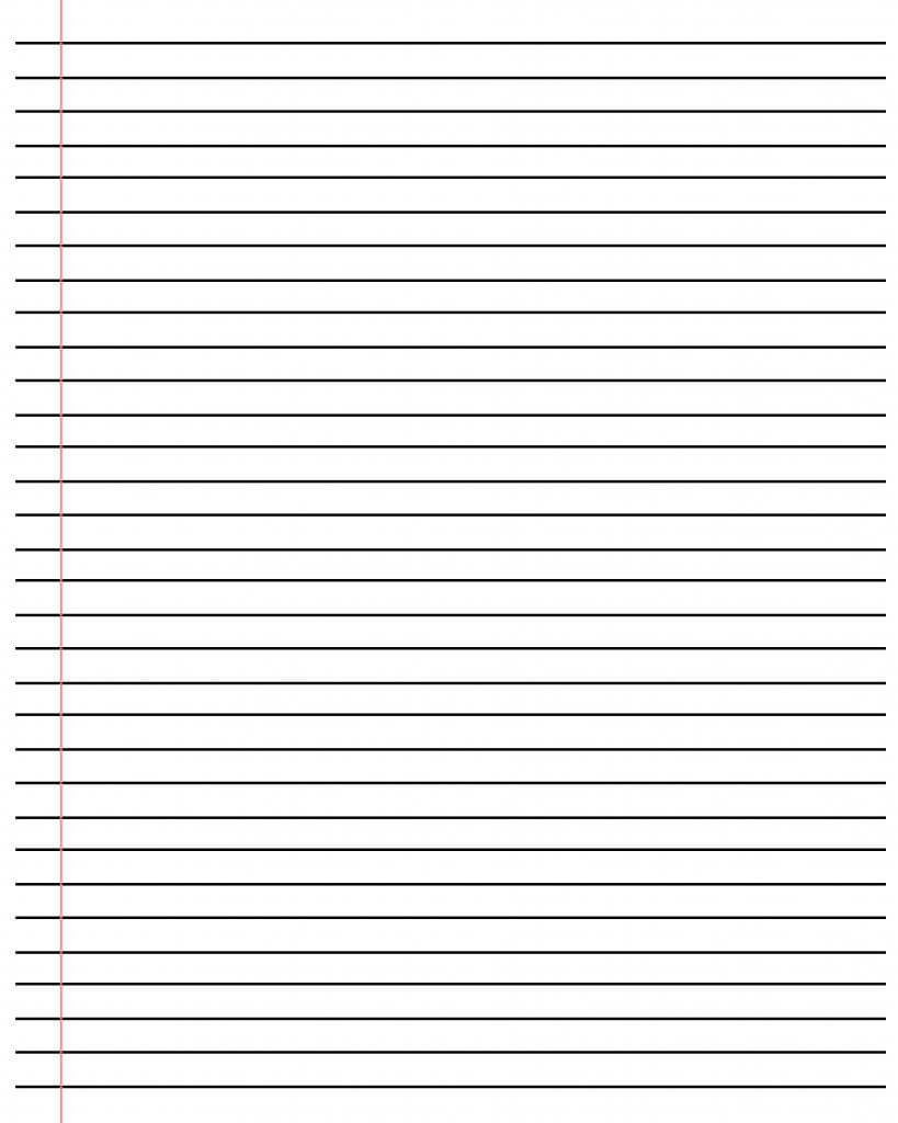 20+ Free Printable Blank Lined Paper Template In Pdf & Word pertaining to Notebook Paper Template For Word