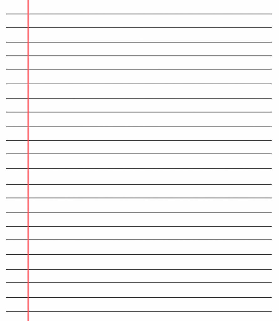 20+ Free Printable Blank Lined Paper Template In Pdf & Word with regard to Ruled Paper Template Word