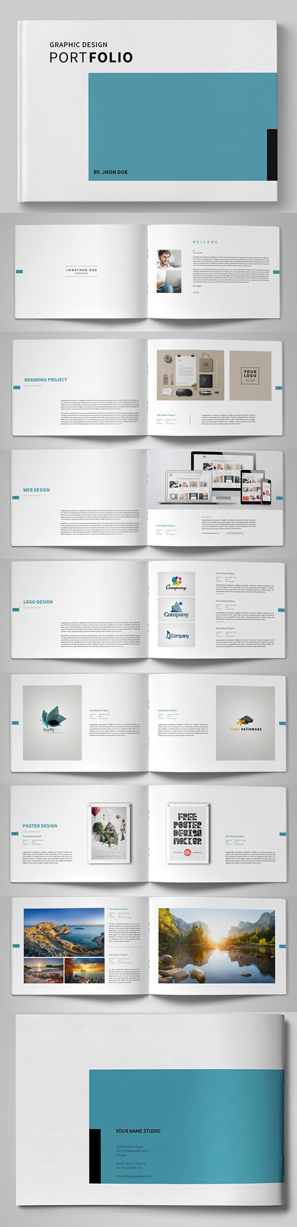 20 New Professional Catalog Brochure Templates | Design inside Product Brochure Template Free