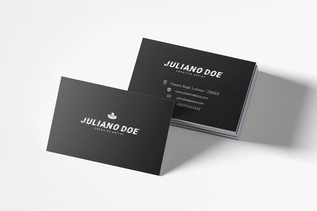 200 Free Business Cards Psd Templates - Creativetacos for Psd Name Card Template