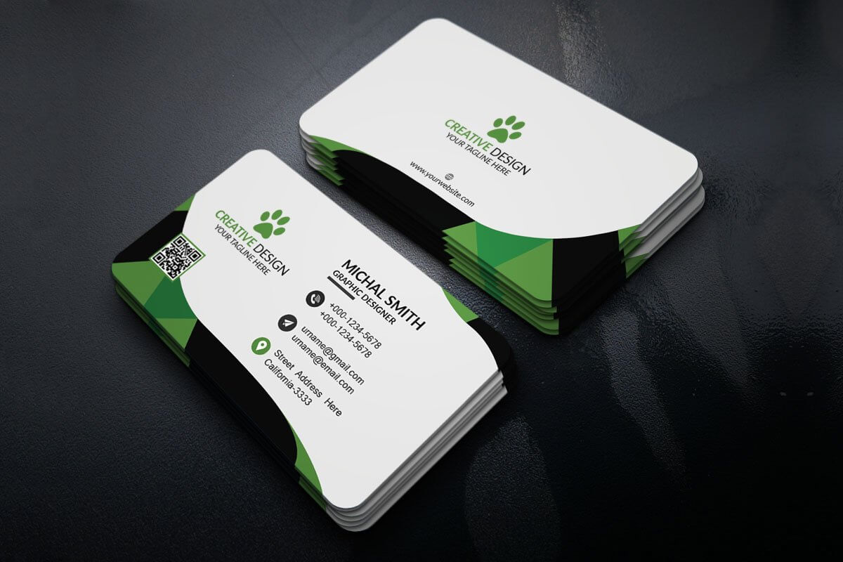 200 Free Business Cards Psd Templates - Creativetacos intended for Photoshop Name Card Template