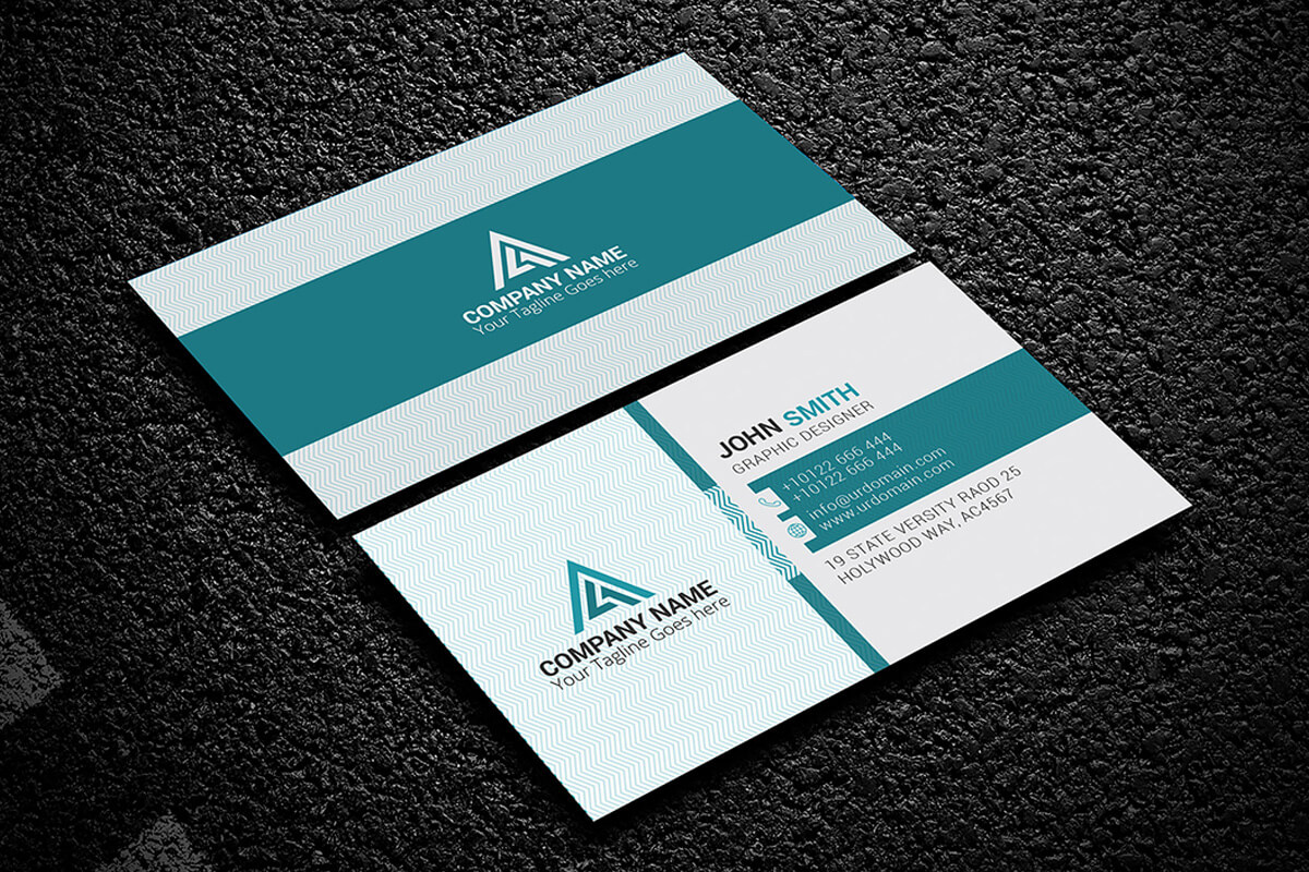 200 Free Business Cards Psd Templates - Creativetacos Regarding Name Card Photoshop Template