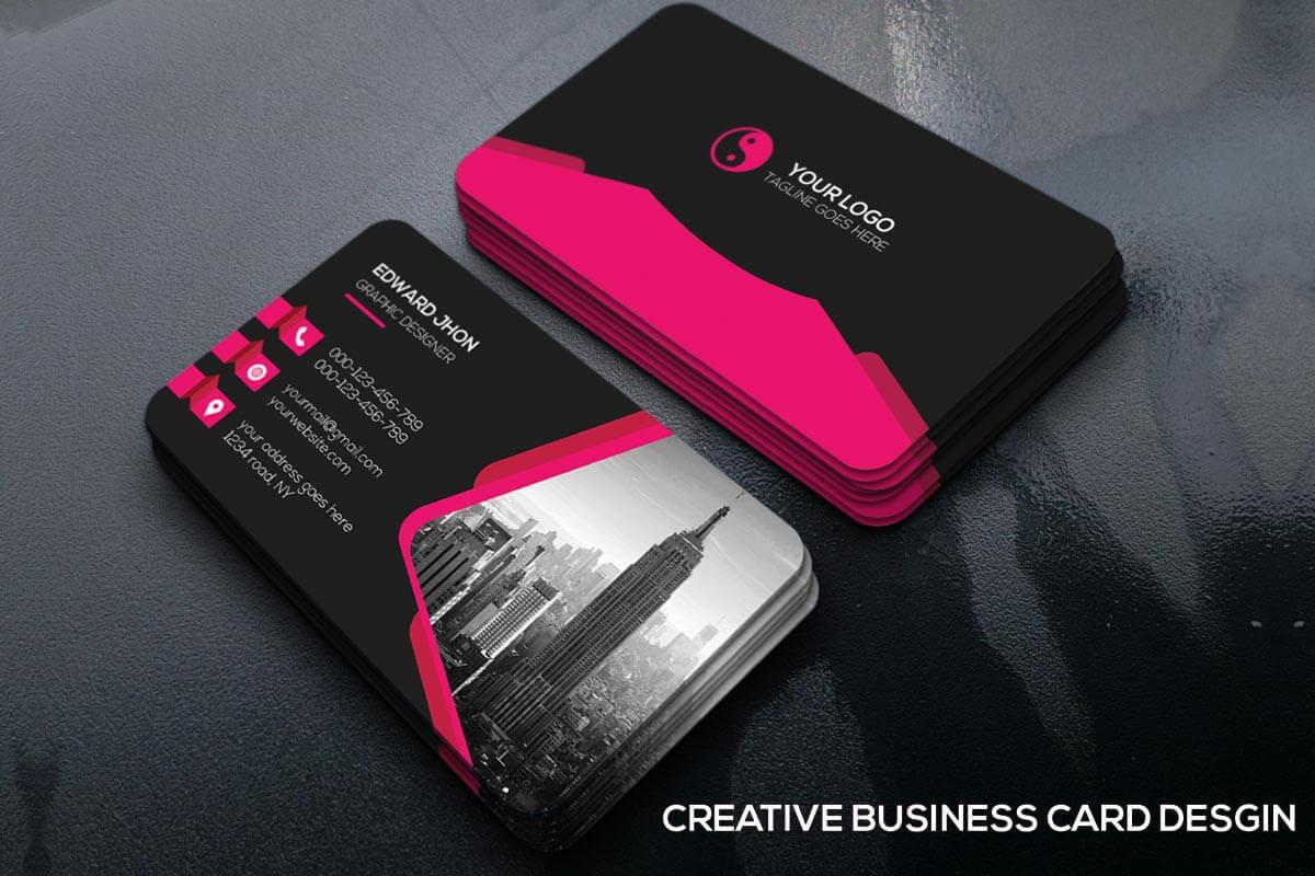 200 Free Business Cards Psd Templates - Creativetacos regarding Photoshop Name Card Template