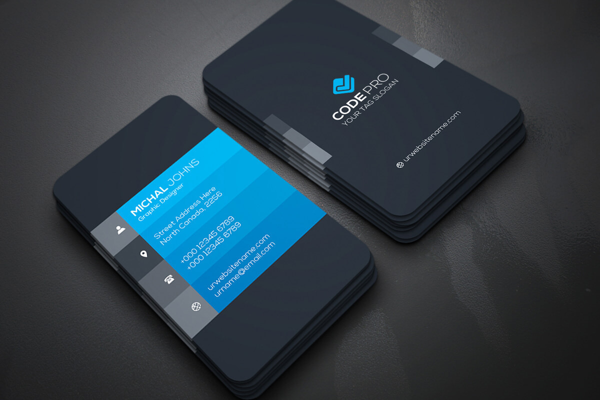 200 Free Business Cards Psd Templates - Creativetacos with Calling Card Psd Template