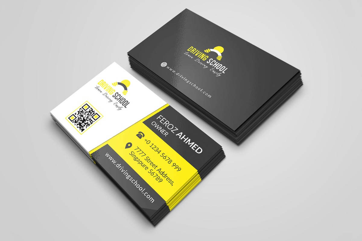 200 Free Business Cards Psd Templates - Creativetacos With Free Business Card Templates In Psd Format