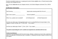 2008 Form Citizens Rcf 1 Fill Online Printable Fillable pertaining to Roof Certification Template