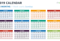 2019 Calendar Powerpoint Templates intended for Powerpoint Calendar Template 2015