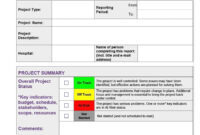 20Daily Project Status Report Template Excel 20Mple Format with Project Weekly Status Report Template Excel