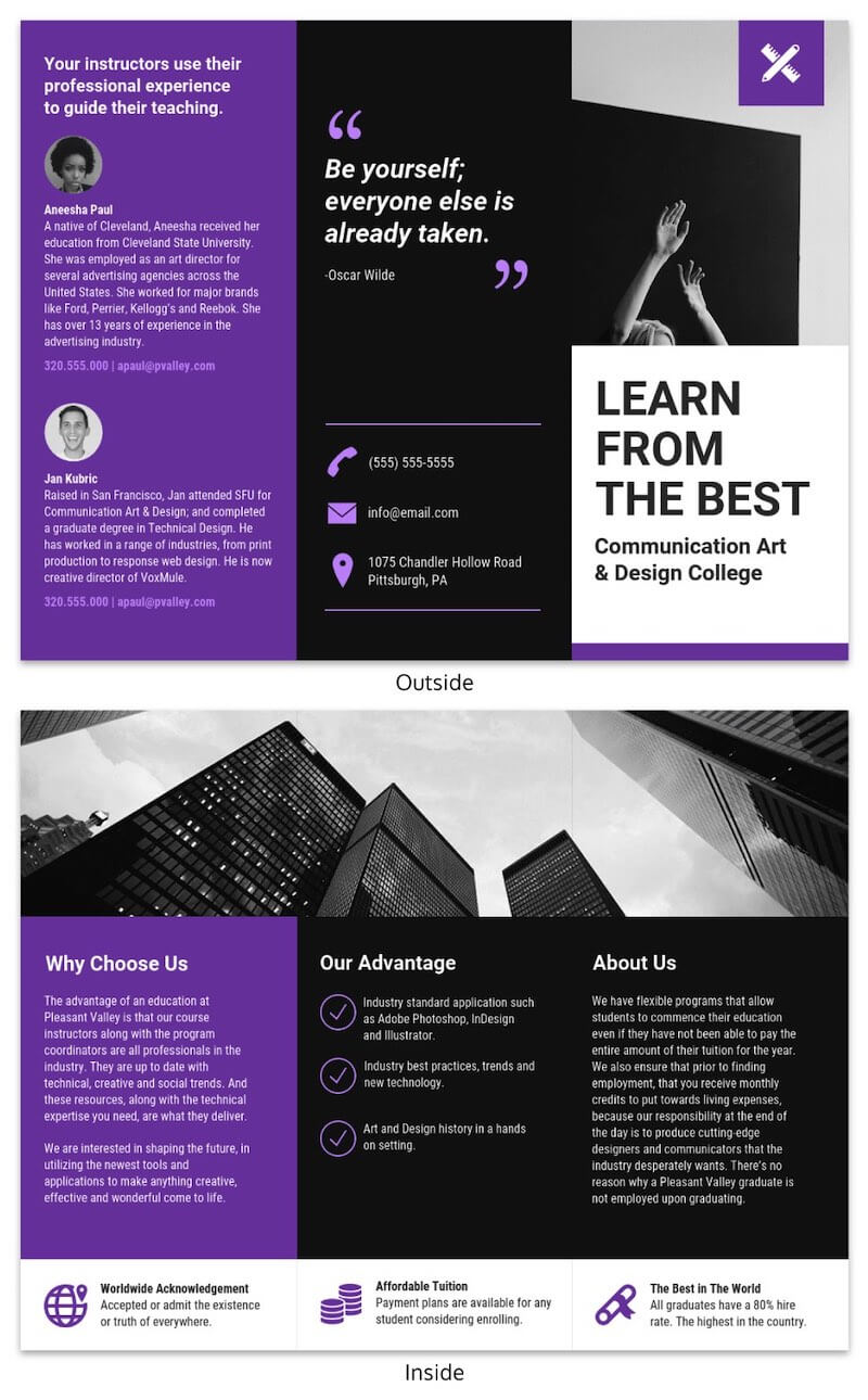 21 Brochure Templates And Design Tips To Promote Your inside Good Brochure Templates