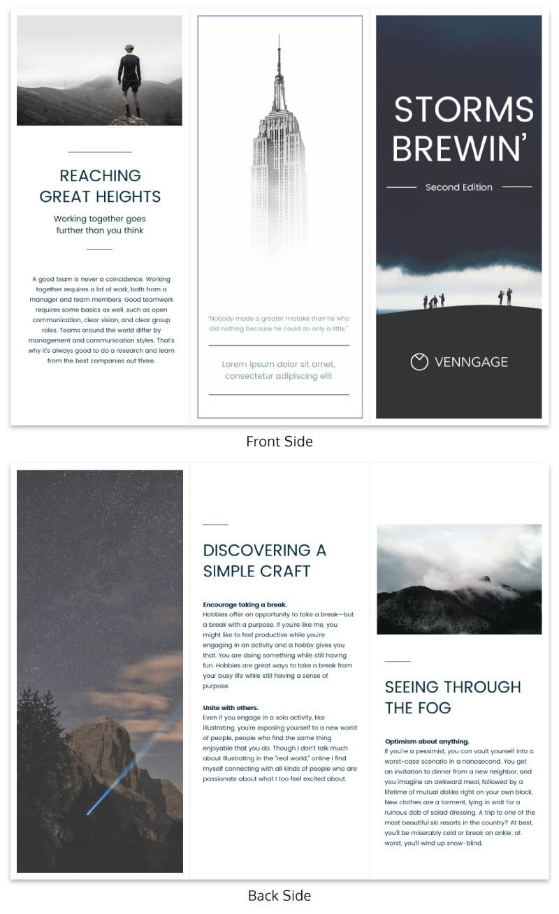 21 Brochure Templates And Design Tips To Promote Your pertaining to Good Brochure Templates