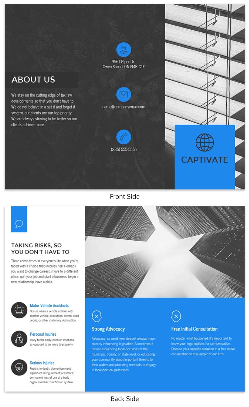 21 Brochure Templates And Design Tips To Promote Your throughout One Page Brochure Template