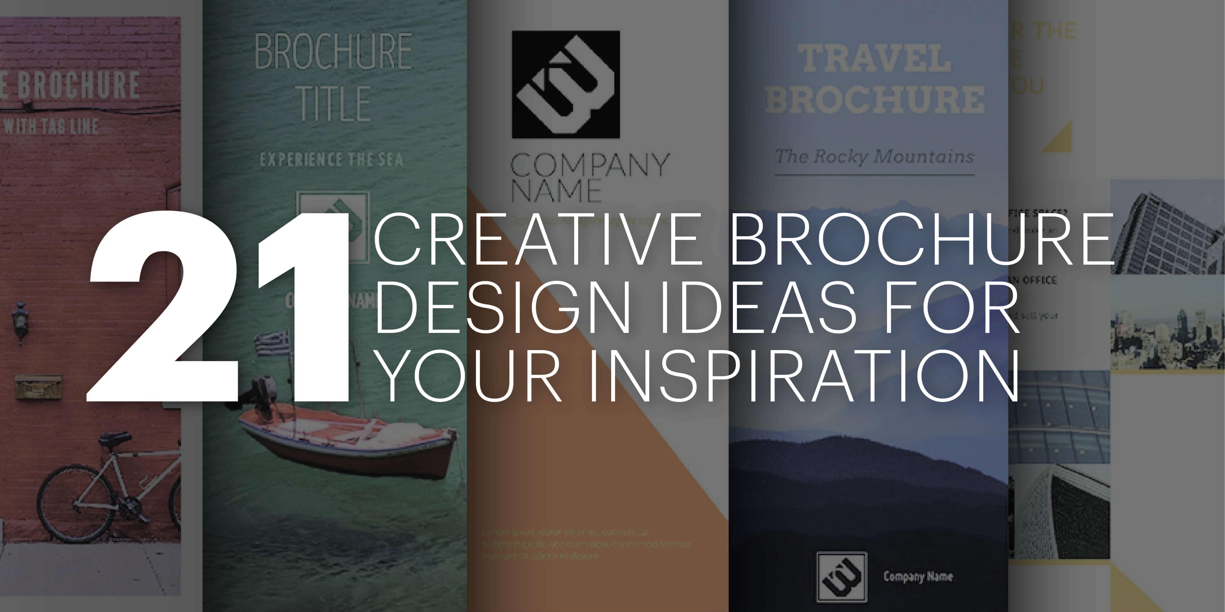 21 Creative Brochure Cover Design Ideas For Your Inspiration Within E Brochure Design Templates
