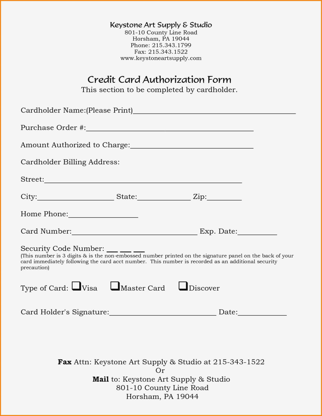 21+ Credit Card Authorization Form Template Pdf Fillable 2019!! in Authorization To Charge Credit Card Template