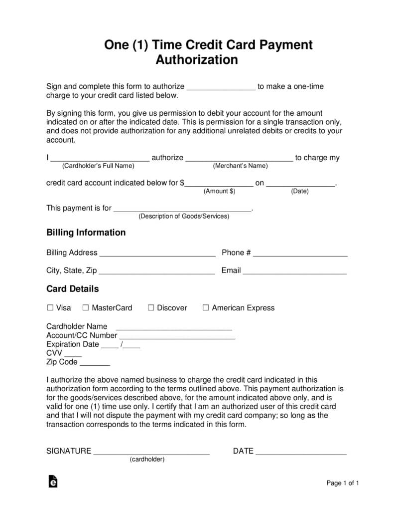 21+ Credit Card Authorization Form Template Pdf Fillable 2019!! intended for Credit Card Billing Authorization Form Template