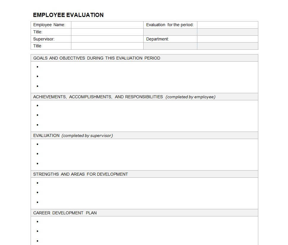 23 Images Of Evaluation Outline Template Blank | Masorler With Regard To Blank Evaluation Form Template
