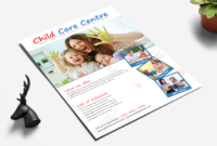 25 Beautiful Free & Paid Templates For Daycare Flyers pertaining to Daycare Brochure Template