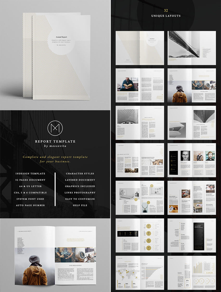 25+ Best Annual Report Templates - With Creative Indesign in Free Indesign Report Templates