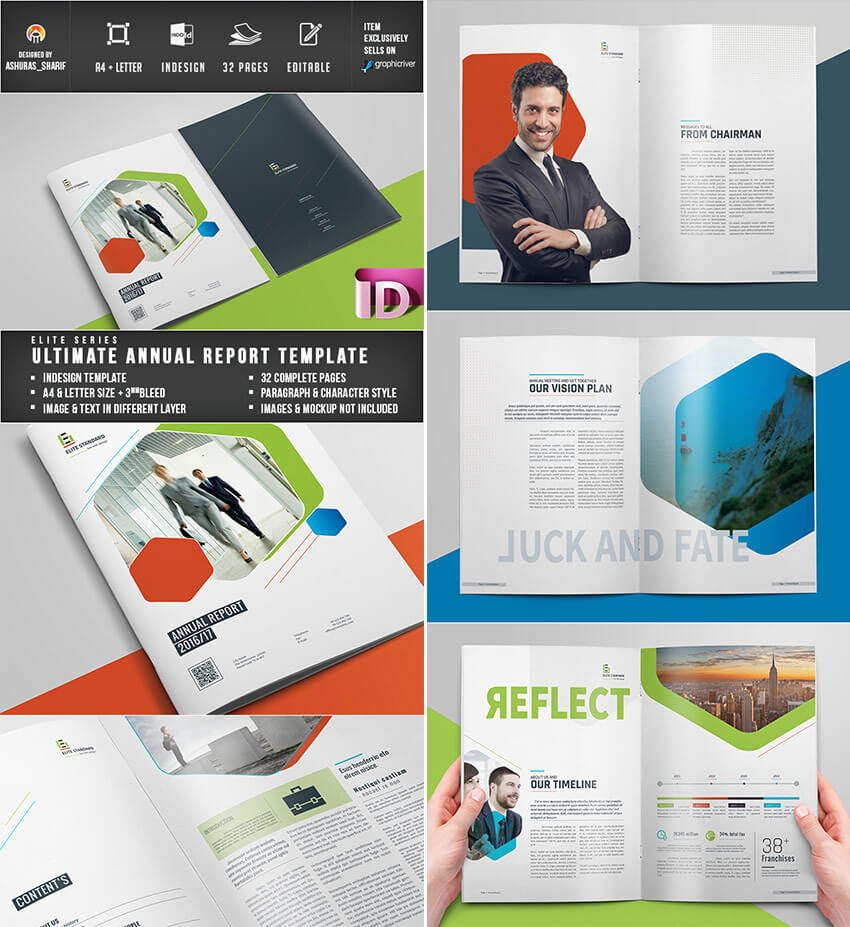 25+ Best Annual Report Templates - With Creative Indesign Within Chairman's Annual Report Template