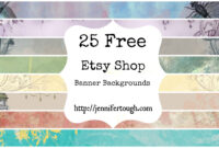 25 Free Etsy Shop Banner | Etsy | Etsy, Etsy Shop, Banner inside Free Etsy Banner Template