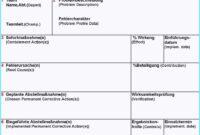 25. Genial 8D Report Vorlage Kreatives Muster, 8D Report regarding 8D Report Template Xls