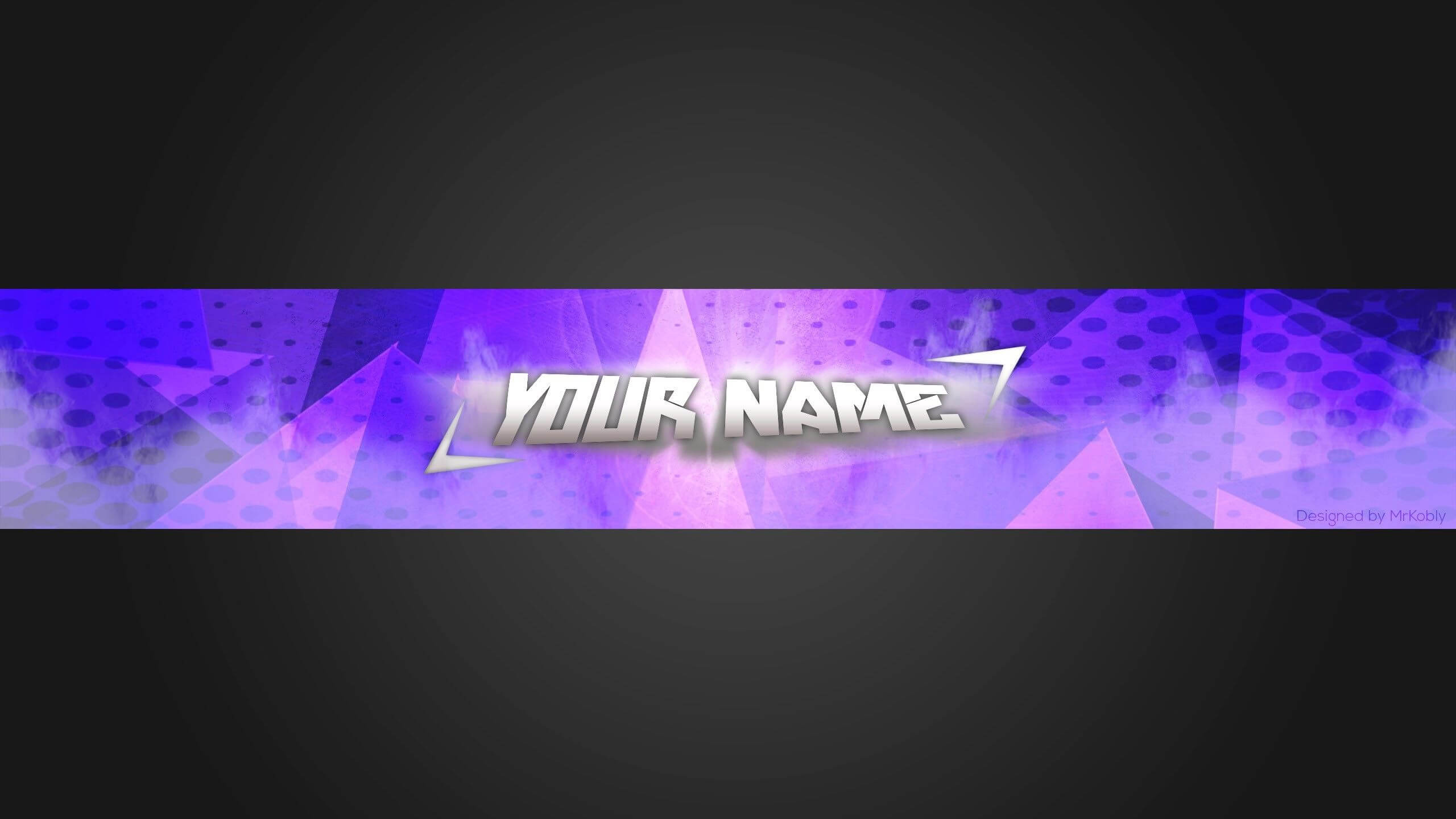 2560X1440 Clean, Simple, Blue | Youtube Banner Template With Banner Template For Photoshop