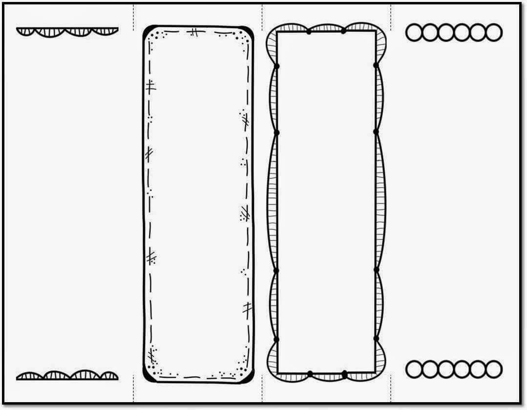 26 Images Of Bookmark Template Student | Masorler within Free Blank Bookmark Templates To Print