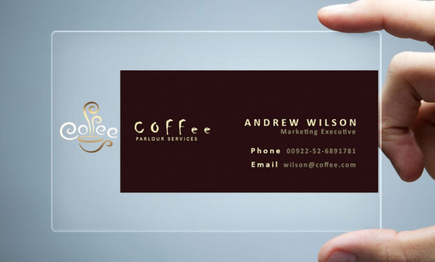 26+ Transparent Business Card Templates - Illustrator, Ms with Transparent Business Cards Template