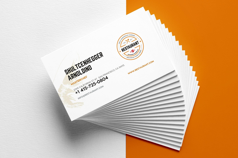 27+ Creative Restaurant Business Card Templates - Ai, Apple Regarding Restaurant Business Cards Templates Free