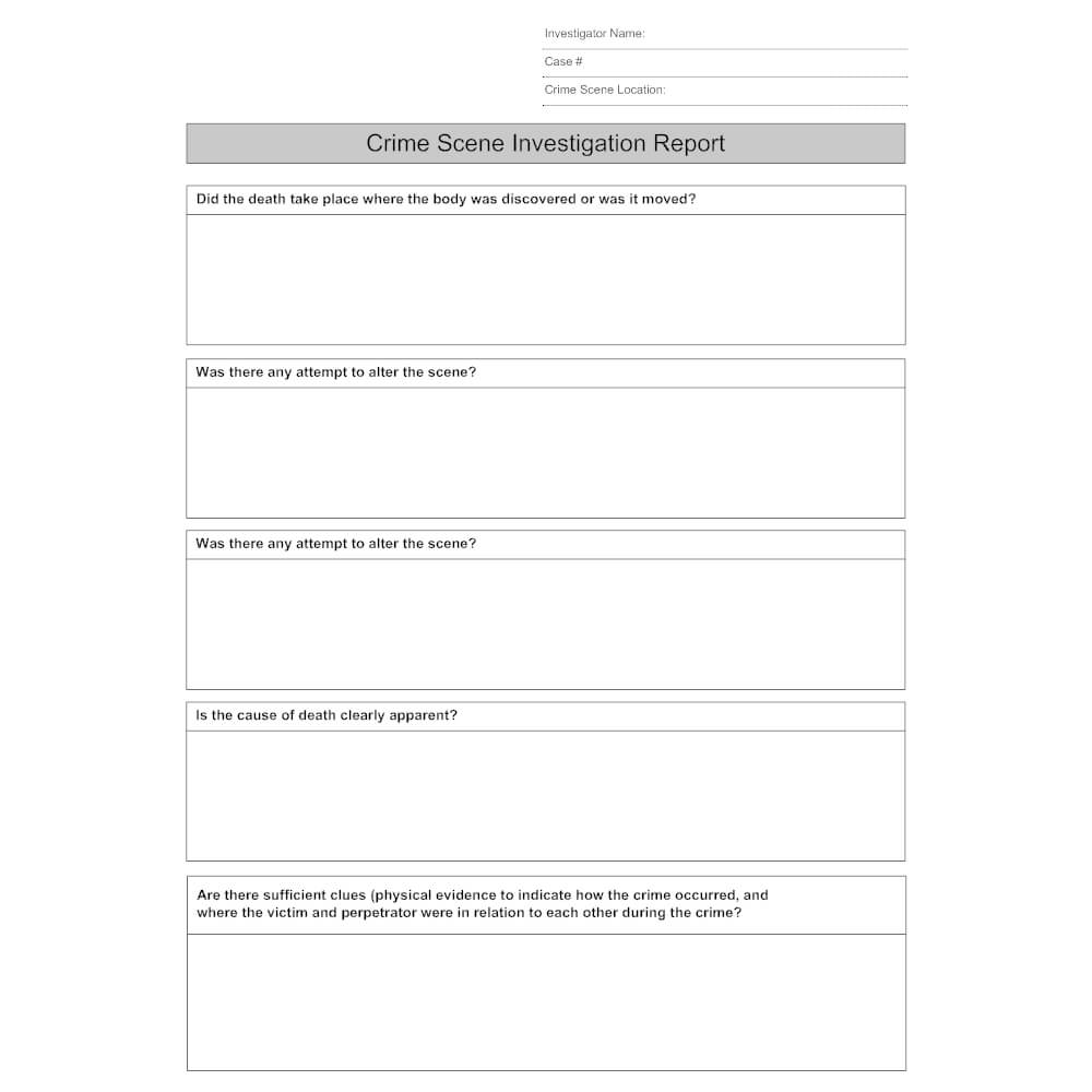 27 Images Of Crime Report Template Sample | Zeept With Crime Scene Report Template