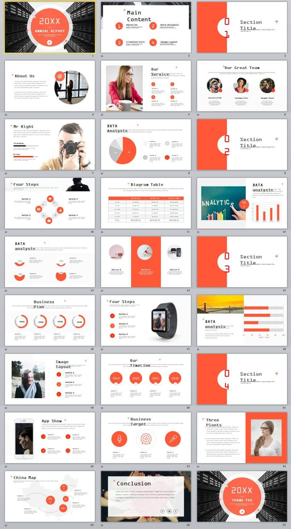 27+ Red Company Annual Report Powerpoint Templates | 2018 pertaining to Annual Report Ppt Template