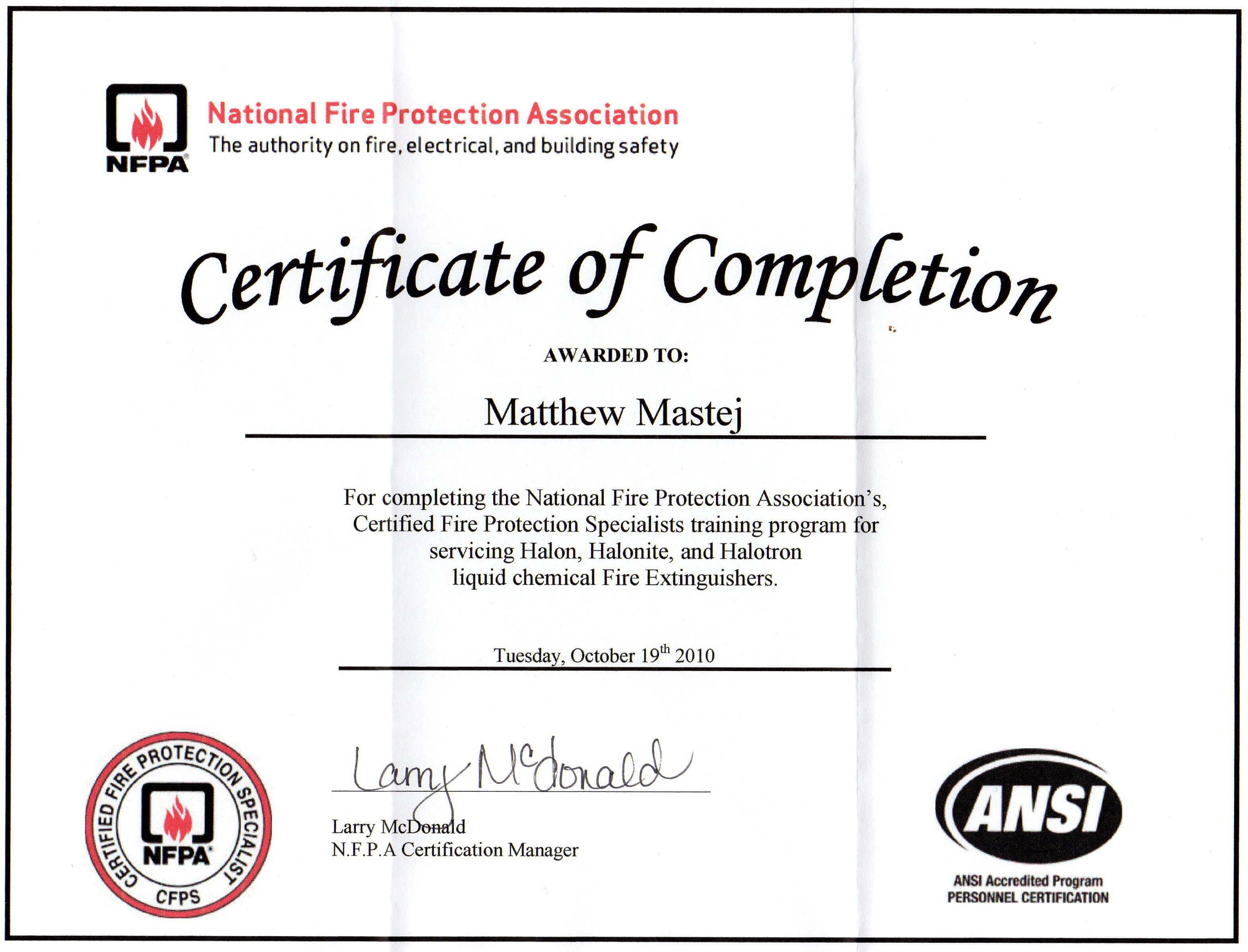 28 Fire Extinguisher Certificate Template Free Printable With Fire Extinguisher Certificate Template