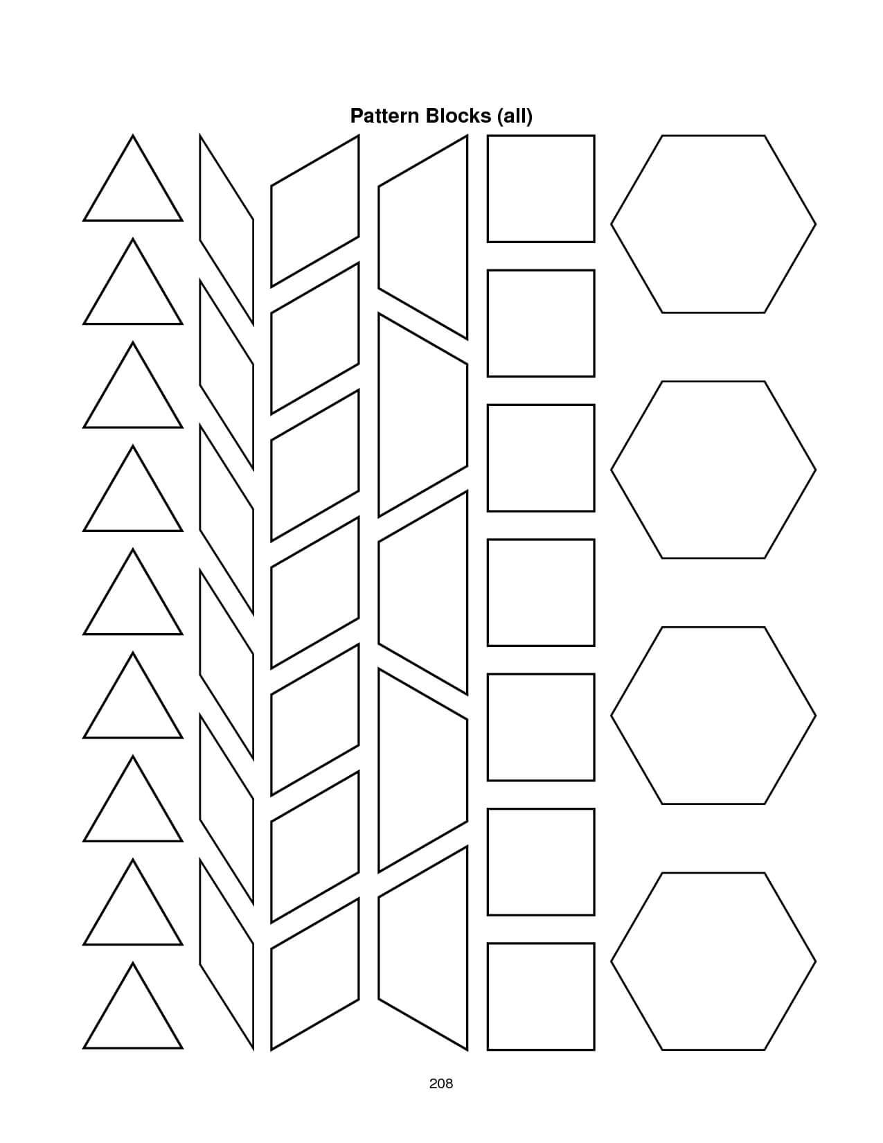28 Images Of Blank Alphabet Pattern Block Template | Migapps With Blank Pattern Block Templates