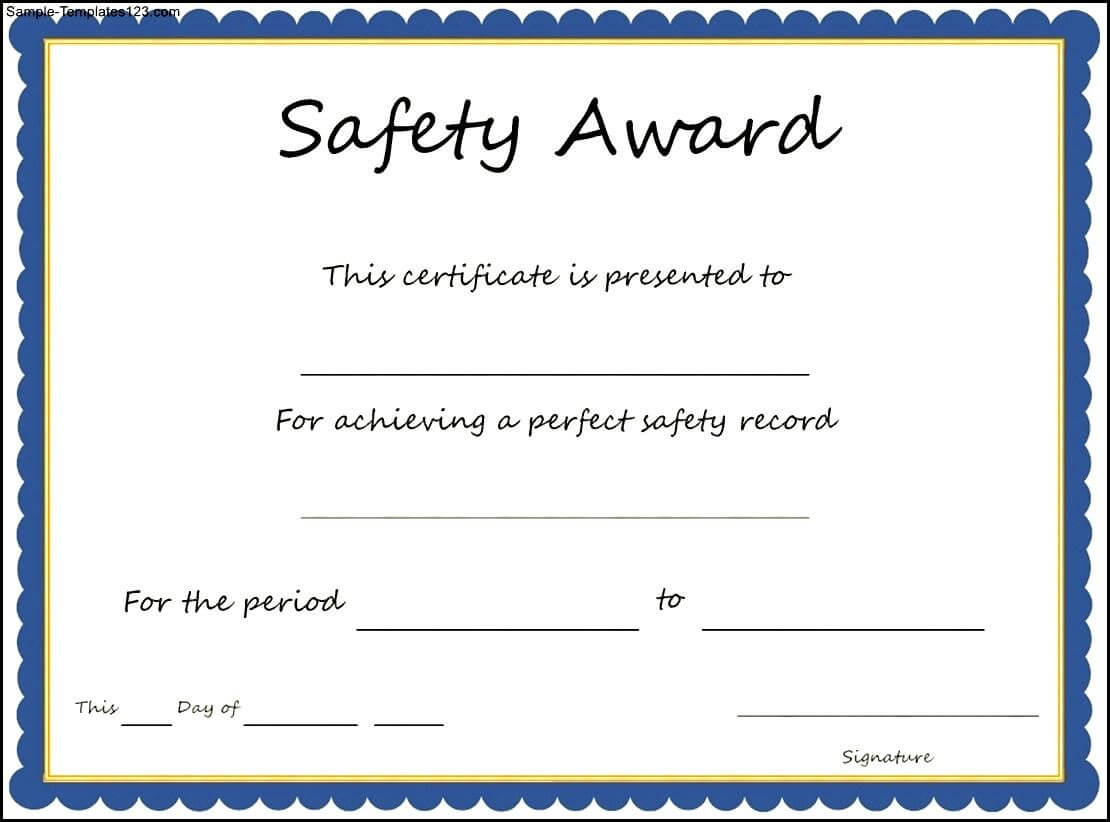 28 Images Of Shrink And Safety Award Template Free | Migapps Within Safety Recognition Certificate Template