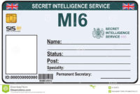29 Images Of Spy Training Certificate Template | Libchen with Spy Id Card Template