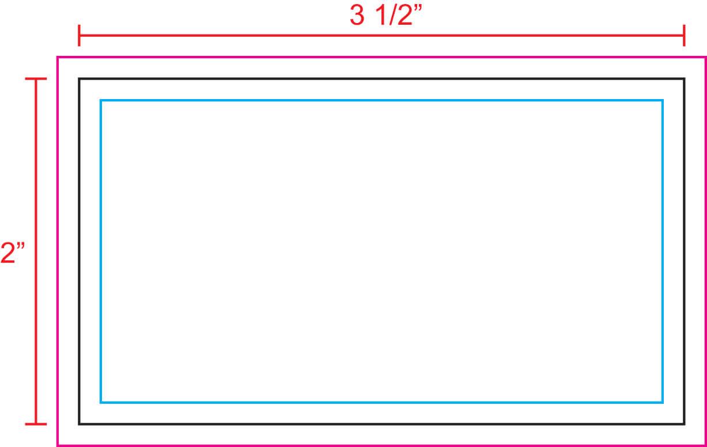 "3.5"" X 2"" Business Card Template - U.s. Press regarding Business Card Size Template Photoshop"