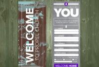 3.5×9 Psd Connection Card Template | Church Design, Church inside Church Visitor Card Template