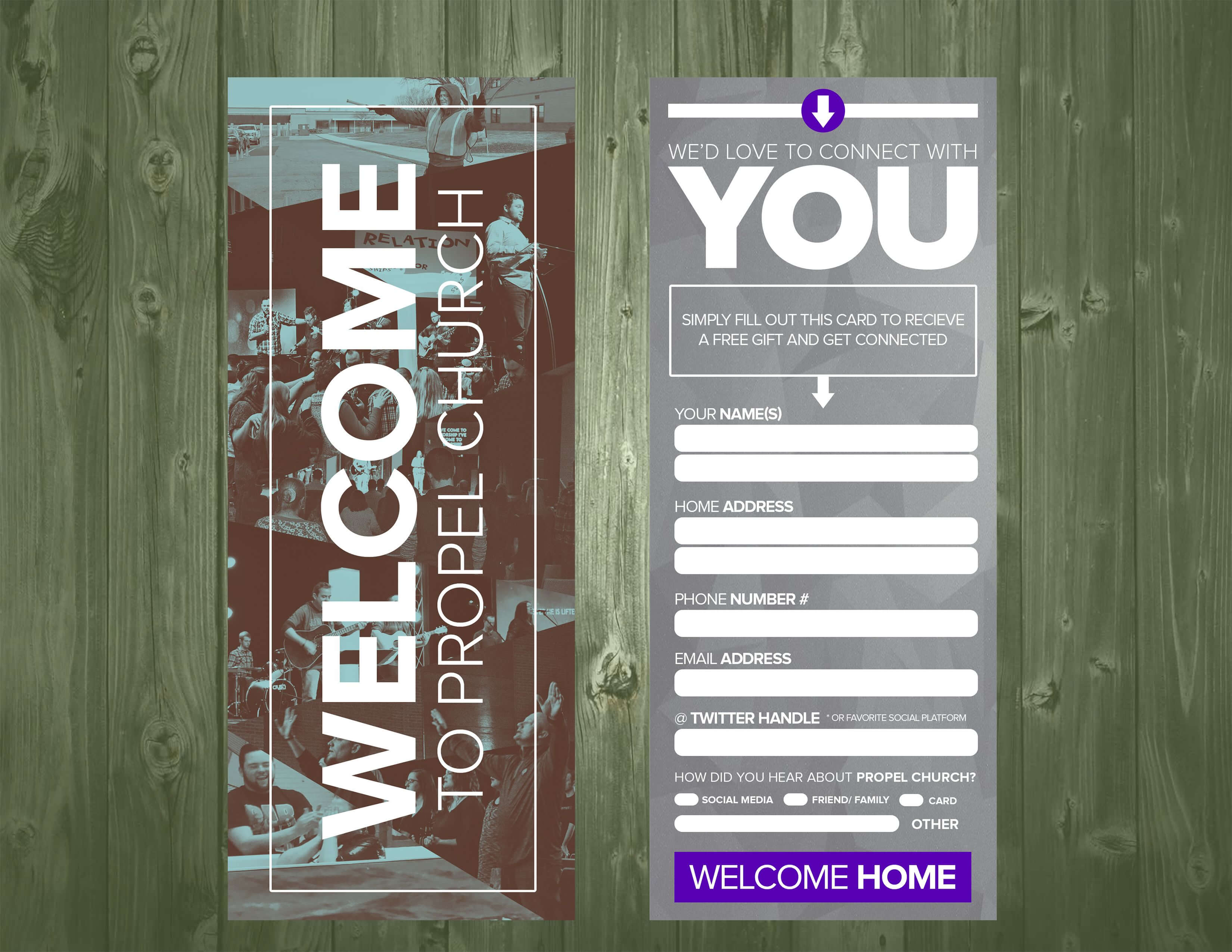3.5×9 Psd Connection Card Template | Church Design, Church With Church Visitor Card Template Word
