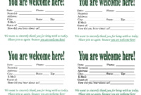 3 Best Images Of Church Visitor Card Template – Church for Church Visitor Card Template Word