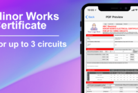 3 Circuit Minor Works Electrical Certificate – Icertifi Inside Minor Electrical Installation Works Certificate Template