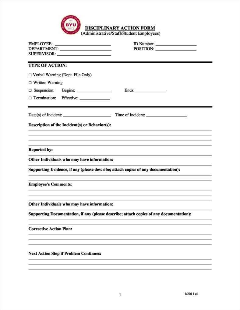 3+ Disciplinary Report Templates - Pdf | Free & Premium with regard to Investigation Report Template Disciplinary Hearing