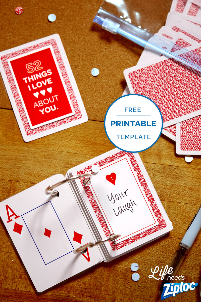 3 Small But Mighty Ways To Say I Love You | Anniversary Throughout 52 Things I Love About You Deck Of Cards Template