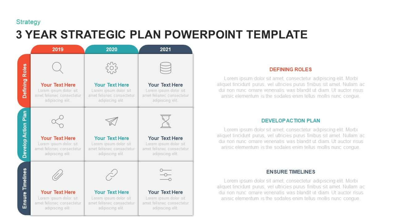 3 Year Strategic Plan Powerpoint Template & Kaynote With Strategy Document Template Powerpoint
