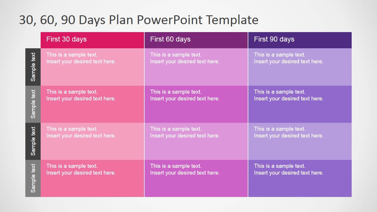 30 60 90 Days Plan Powerpoint Template Inside 30 60 90 Day Plan Template Powerpoint