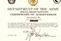30 Army Award Certificate Template   Pryncepality pertaining to Army Certificate Of Achievement Template